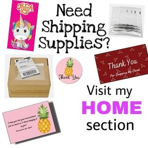 $3 & Up Shipping Supplies in my HOME  Section